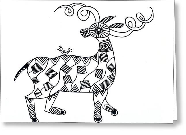 Animals Deer Greeting Card