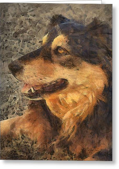 animals - dogs - Faithful Friend Greeting Card by Ann Powell