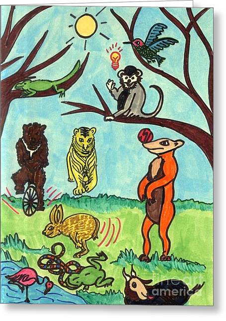 Animals In The Park Greeting Card