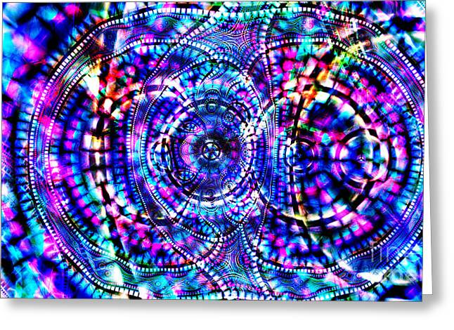 Animus Firewaters Essence Of Light Greeting Card by Aeres Vistaas