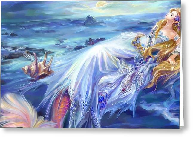 Anjelesa Angel Mermaid  Greeting Card