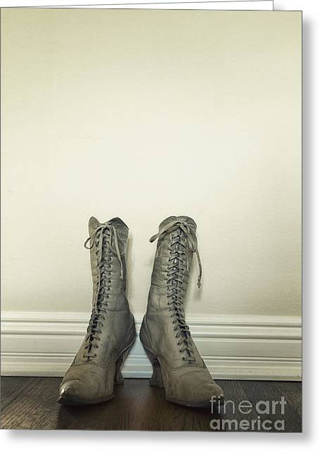Ankle Boots Greeting Card by Margie Hurwich