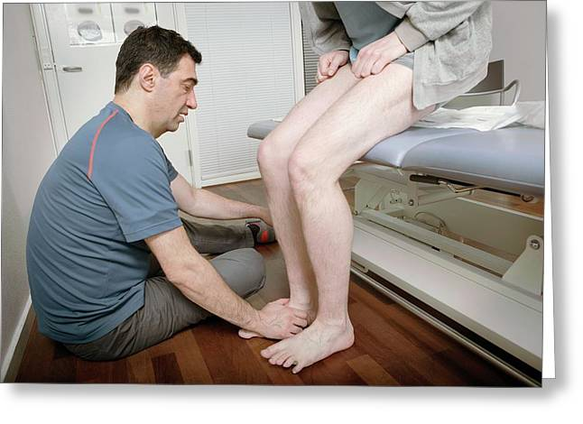 Ankle Physiotherapy Greeting Card by Thomas Fredberg