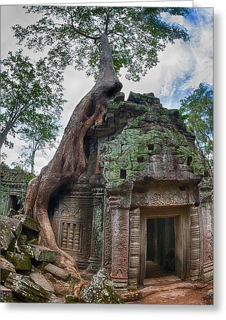 Angkor Wat Greeting Card by Stelios Kleanthous