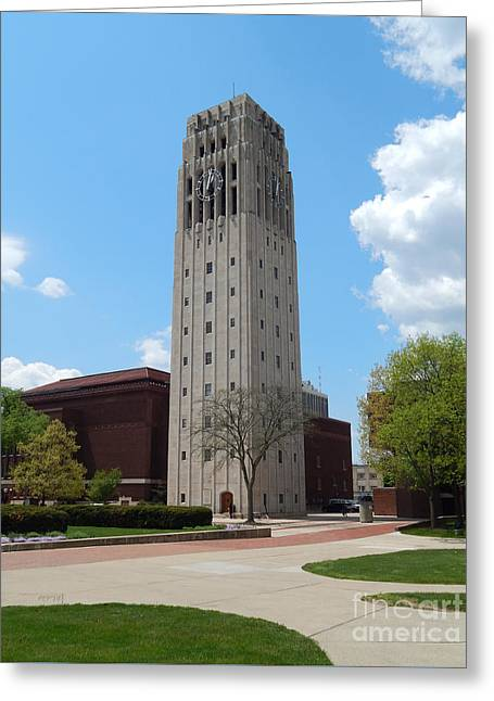 Ann Arbor Michigan Clock Tower Greeting Card