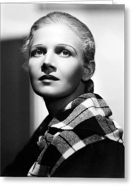 Ann Harding In Biography Of A Bachelor Girl  Greeting Card