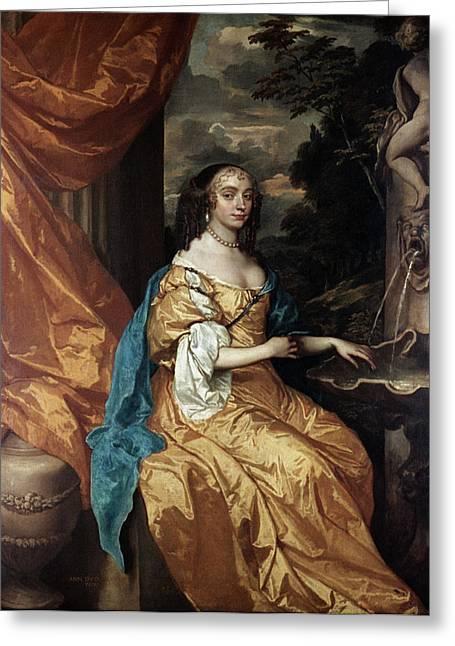 Ann Hyde, Duchess Of York (1637-1671) Greeting Card
