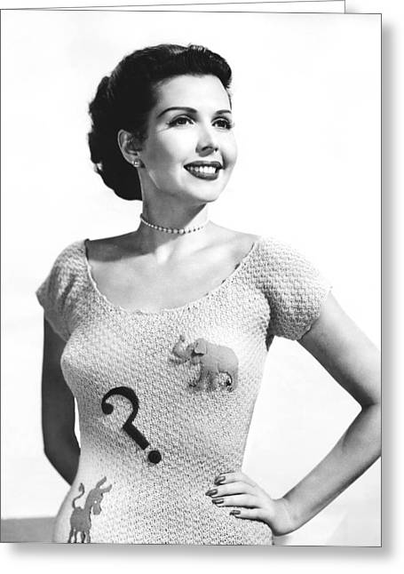 Ann Miller Election Dilemma Greeting Card by Underwood Archives