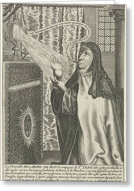 Anna Of Jesus, Michel Van Lochom Greeting Card by Quint Lox