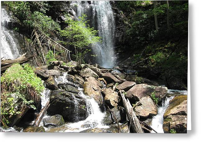 Anna Ruby Falls Helen Ga 03 Greeting Card by Brian Johnson