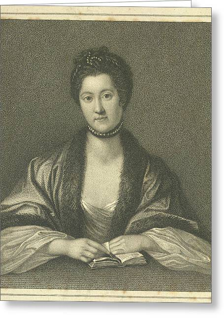 Anna Seward Greeting Card by British Library