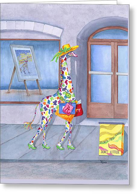 Annabelle Spree Greeting Card by Rhonda Leonard