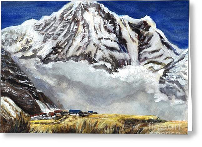 Annapurna L Mountain In Nepal Greeting Card