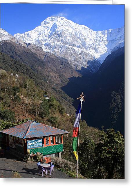 Annapurna South, The Himalayas, Nepal Greeting Card