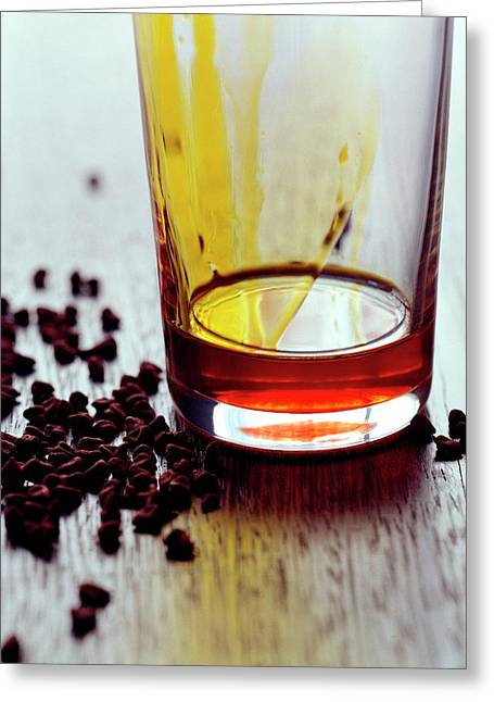 Annatto Seeds With A Glass Greeting Card