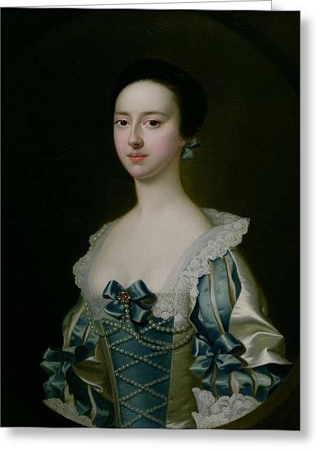 Anne Bateman, Later Mrs. John Gisbourne, 1755 Greeting Card by Joseph Wright of Derby
