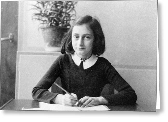 Anne Frank Greeting Card by Unknown