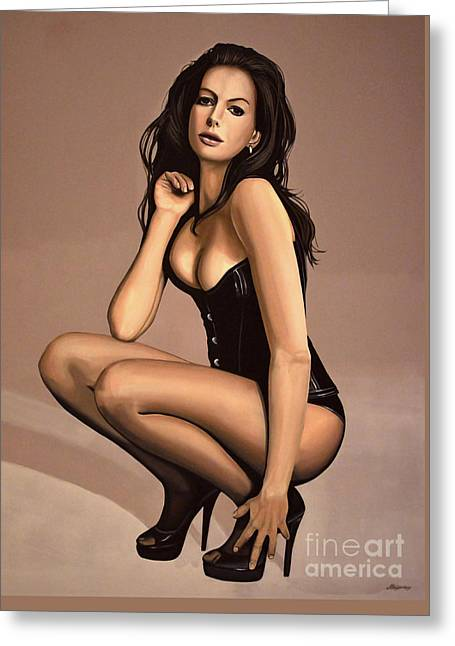 Anne Hathaway Painting Greeting Card by Paul Meijering