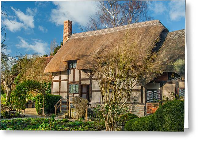 Anne Hathaways Cottage Greeting Card by David Ross