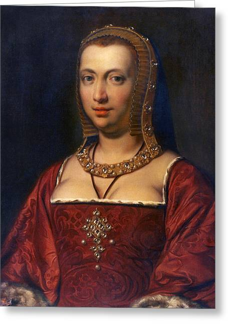 Anne Of Brittany (1477-1514) Greeting Card by Granger