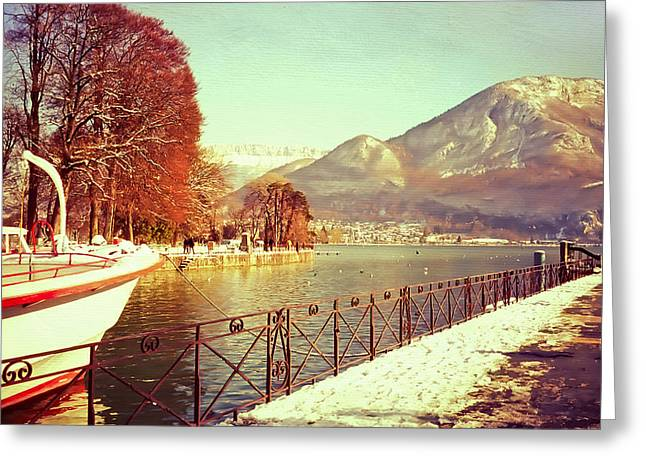 Annecy Golden Fairytale. France Greeting Card by Jenny Rainbow