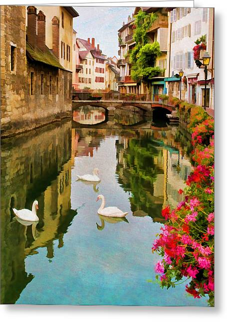 Annecy Greeting Card by Jean-Pierre Ducondi