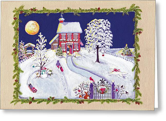 Anne's Snow House Greeting Card
