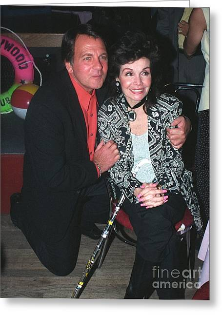 Annette Funicello And Fabian Greeting Card by Gary Kaplan