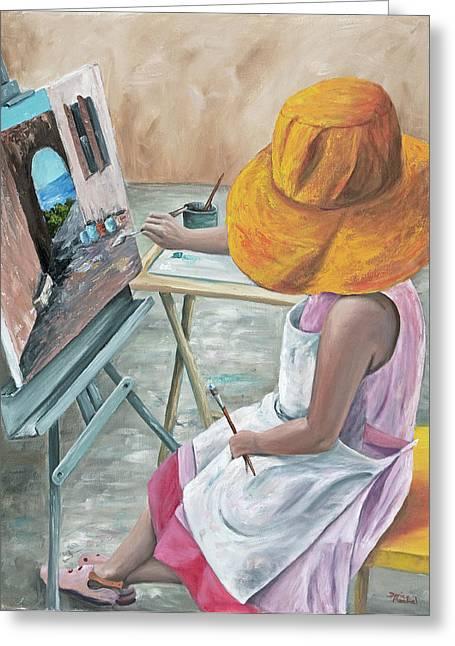 Annie Greeting Card by Darice Machel McGuire