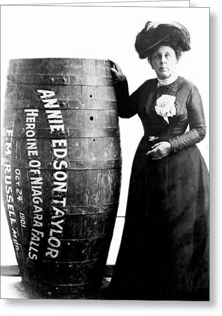 Annie Edson Taylor, American Daredevil Greeting Card