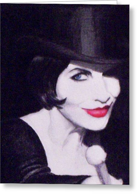 Annie Lennox Greeting Card by Lori White