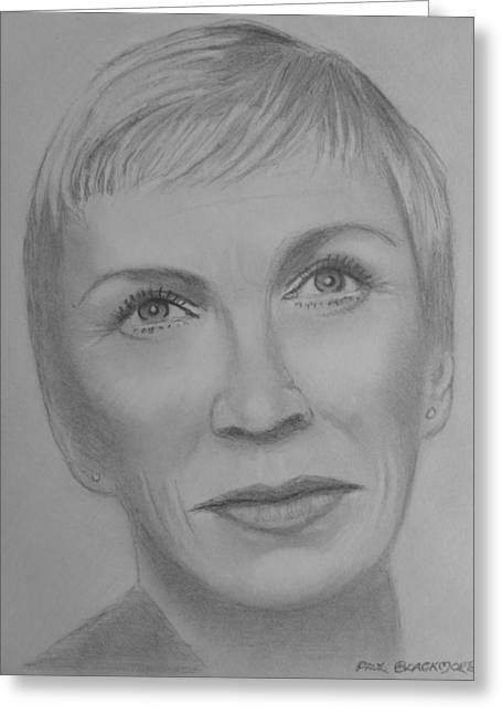 Annie  Lennox Greeting Card by Paul Blackmore