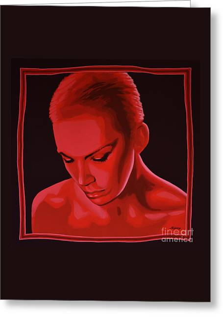 Annie Lennox Greeting Card by Paul Meijering