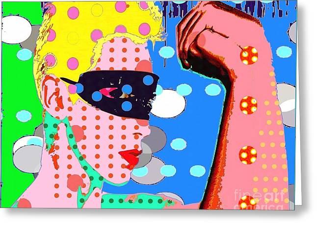 Annie Lennox Greeting Card by Ricky Sencion