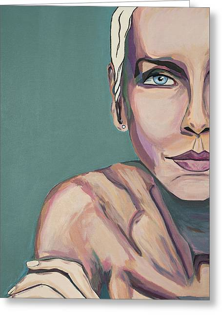 Annie Lennox Talk To Me Greeting Card