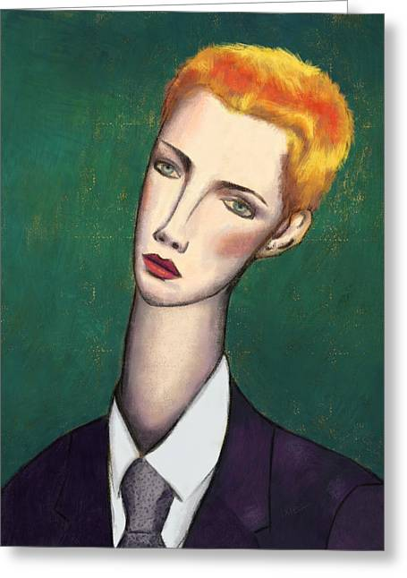 Annie Lennox Modigliani Greeting Card by Ixie