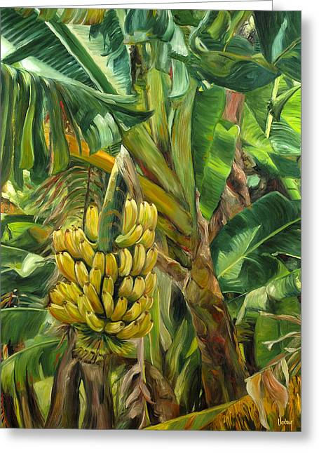 Annie's Bananas Greeting Card by Stacy Vosberg