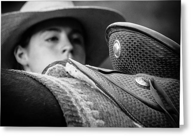 Greeting Card featuring the photograph Annie's Saddle by Steven Bateson