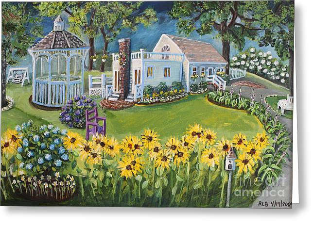 Annie's Summer Cottage Greeting Card by Rita Brown