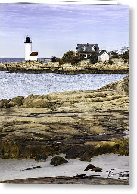 Greeting Card featuring the photograph Annisquam Light by Betty Denise