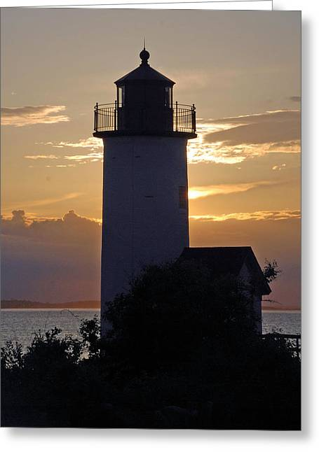 Annisquam Lighthouse Sunset Greeting Card