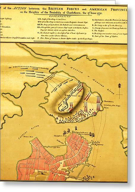 Anniversary Of The Battle Of Bunker Hill 1776 Greeting Card