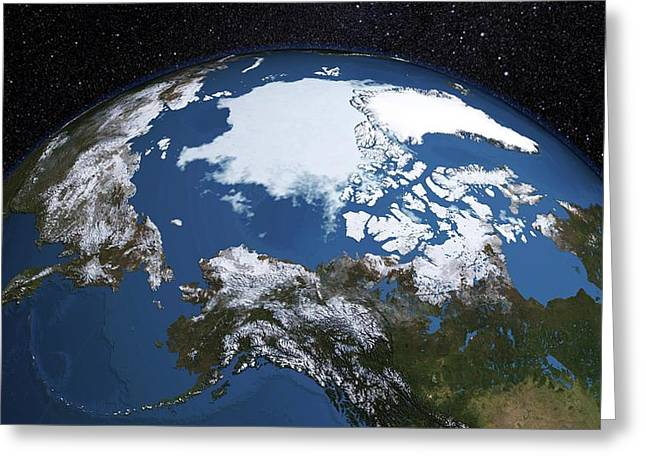 Annual Minimum Arctic Sea Ice Greeting Card