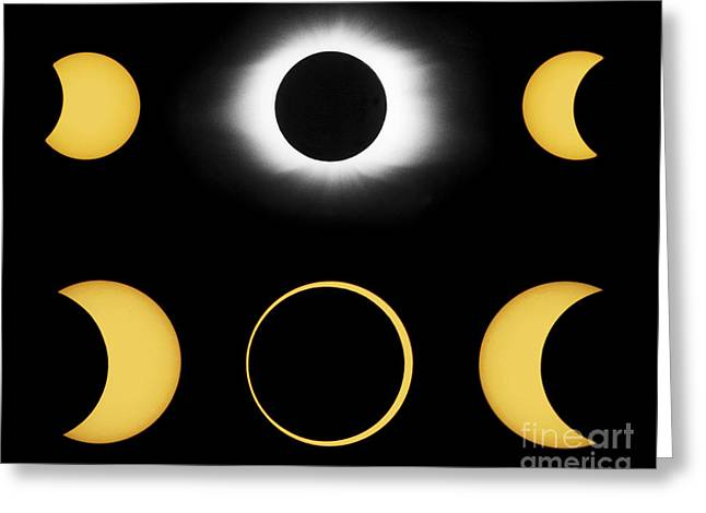 Annular And Total Solar Eclipses Greeting Card