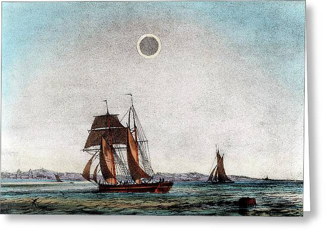 Annular Eclipse Of The Sun Greeting Card by Universal History Archive/uig
