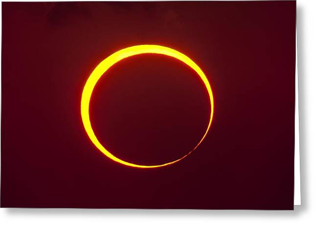 Annular Solar Eclipse Greeting Card by Science Photo Library