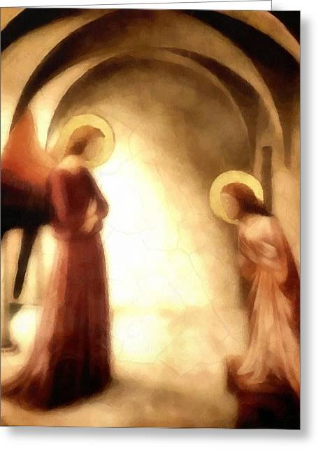 Annunciation Greeting Card by Gun Legler