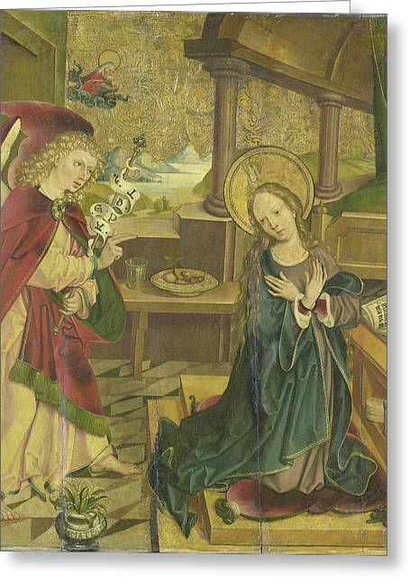 Annunciation To The Virgin, Meester Van Het Salemer Altaar Greeting Card by Litz Collection