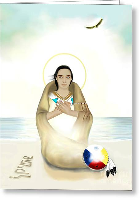 Annunciation Greeting Card by Zeljko Bilandzic