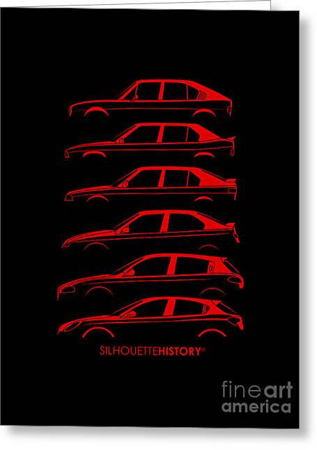 Lombard Compact Silhouettehistory Greeting Card by Gabor Vida
